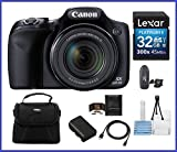 Canon Powershot SX530 HS 16.0 MP Digital Camera with 50x Optical Zoom and 1080p Full HD Video Bundle Kit; Includes: NB-6L Battery, 32GB SDHC High Speed Memory Card, Small Camera Bag, Mini Tripod, Card Reader, Lens Cleaning Kit, Memory Card Wallet and Mini HDMI Cable