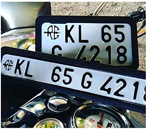 Movell Wv001rca0164 Bike Number Plate Frame Amazon In Car Motorbike