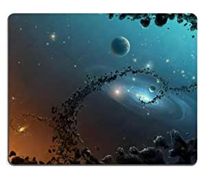 Magic Of Universe Scattered Debris Mouse Pads Customized Made to Order Support Ready 9 7/8 Inch (250mm) X 7 7/8 Inch (200mm) X 1/16 Inch (2mm) High Quality Eco Friendly Cloth with Neoprene Rubber Luxlady Mouse Pad Desktop Mousepad Laptop Mousepads Comfortable Computer Mouse Mat Cute Gaming Mouse pad