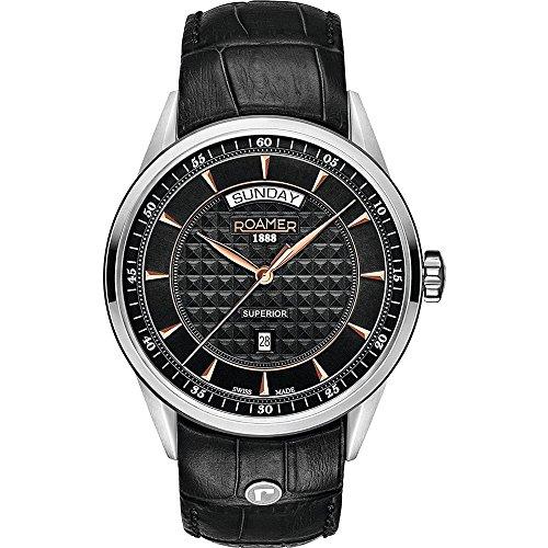 Roamer SUPERIOR DAY DATE 508293 49 55 05 Mens Wristwatch Swiss Made