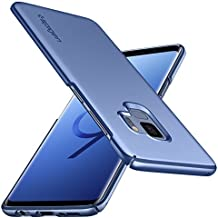 Spigen Thin Fit Galaxy S9 Case with SF Coated Non Slip Matte Surface for Excellent Grip and QNMP Compatible for Galaxy S9 (2018) - Coral Blue
