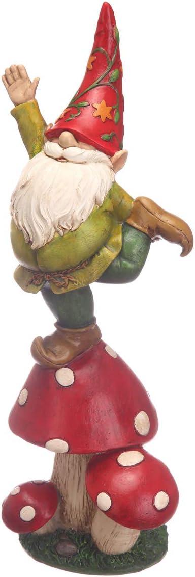 Topadorn Vegetable Garden Gnome Statue Decoration Statuary,Mushroom