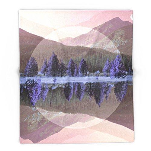 Society6 Mountain Mirror 88'' x 104'' Blanket by Society6