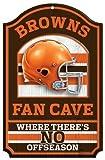 """NFL Cleveland Browns 05421015 Wood Sign, 11"""" x 17"""", Black"""