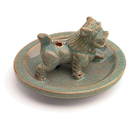 Tibet Collection Incense Burner Glazed Snow Lion