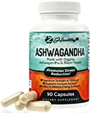 Organic Ashwagandha Root Powder Extract of Black Pepper Anxiety Relief, Thyroid Support, Cortisol & Adrenal Support, Anti Anxiety & Adrenal Fatigue Supplements 90 Veggie Capsules Review