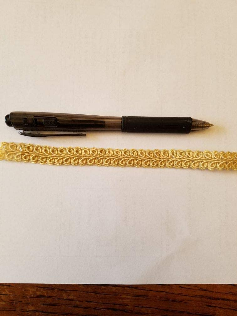 Waverly Lite Gold Gimp Braid Trim 1//2 inch Wide 12 Yard