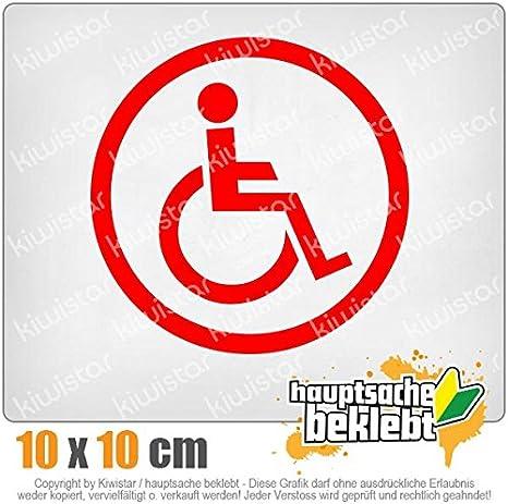 Autoaufkleber Sticker Bomb Decals Tuning Bekleben KIWISTAR Aufkleber Rollstuhlfahrer Design 2