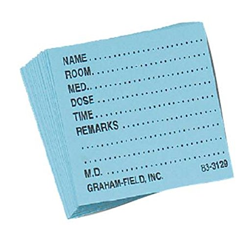Medicine Card Grafco 1 1/2 X 1 3/4 Inch, White