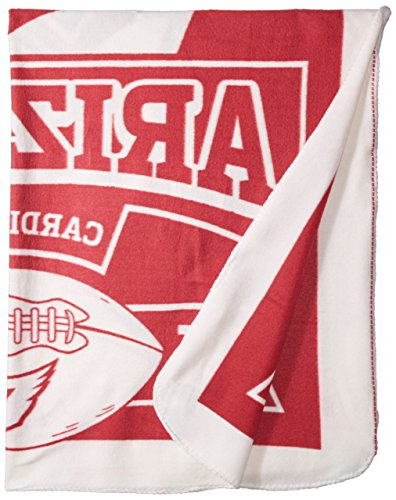 Cardinals Arizona Bed Nfl (The Northwest Company NFL Arizona Cardinals Marque Printed Fleece Throw, 50-inches by 60-inches)