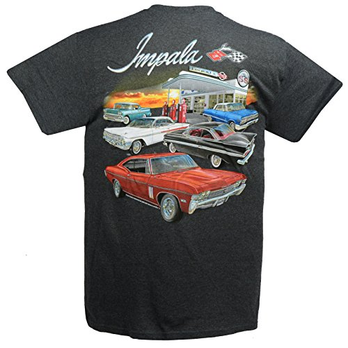 Bubble Chevy Top (Hot Rod Apparel Company Chevy Impala, Impala SS 1958 to 1966 T-Shirts - Gray - 100% Cotton Preshrunk)