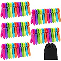 Aneco 60 Pieces Clothes Pins Cloths Clips Strong Clips Laundry Home Pegs Windproof Clothes Pins for Home Clothes Windproof Supplies