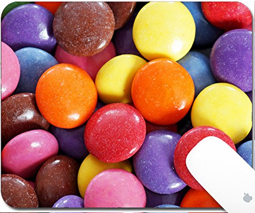 Luxlady Natural Rubber Gaming Mousepads Colorful food backgr