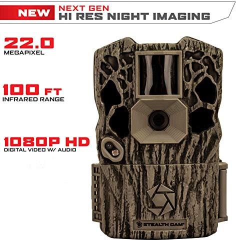 Stealth Cam XV4 Infrared 22MP Game Camera High Rez Night Imaging, Minimizes Grain, Smart Illumination Technology