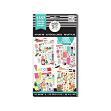 Me and My BIG Ideas PPSV-04 Create 365 The Happy Planner Sticker Value Pack, Brilliant Year Seasonal, 1557 Stickers