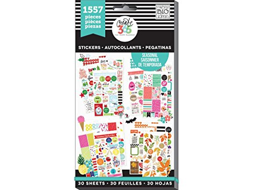 me & my BIG ideas PPSV-04 Create 365 The Happy Planner Sticker Value Pack Planner, Brilliant Year Seasonal, 1557 Stickers