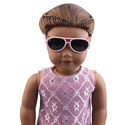 AMA(TM) Stylish Plastic Frame Glasses Sunglasses Accessories Fits 18 Inch Our Generation American Girl Dolls - Sunglasses Amo