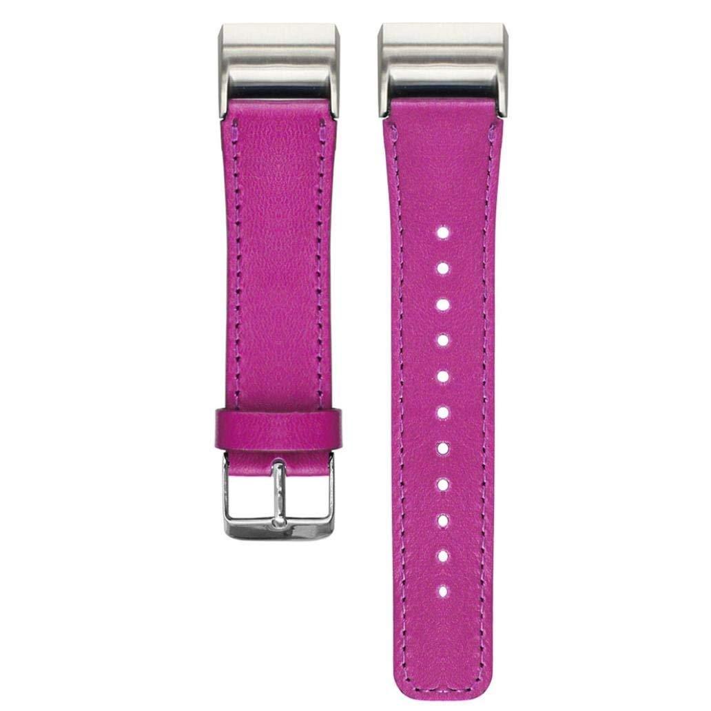 hunputa新しい交換用ファッションスポーツレザーブレスレットストラップバンドfor Fitbit Charge 2 B01MDKUS1Q ホットピンク