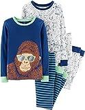 Carter's Toddler Boys 4 Pc Pajama PJs Sleep Play Sleep Snug fit Cotton Gorilla Animals (4)
