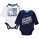 Gerber Baby Boys San Diego Chargers Long Sleeve Bodysuits 2 Pack