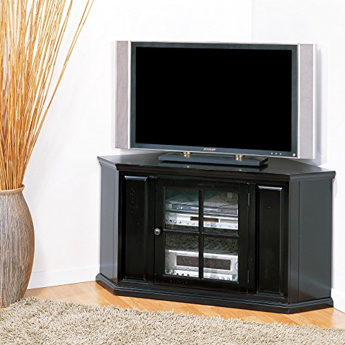 - Leick 83285 Riley Holliday TV Stand, 46 inches, Black Rub