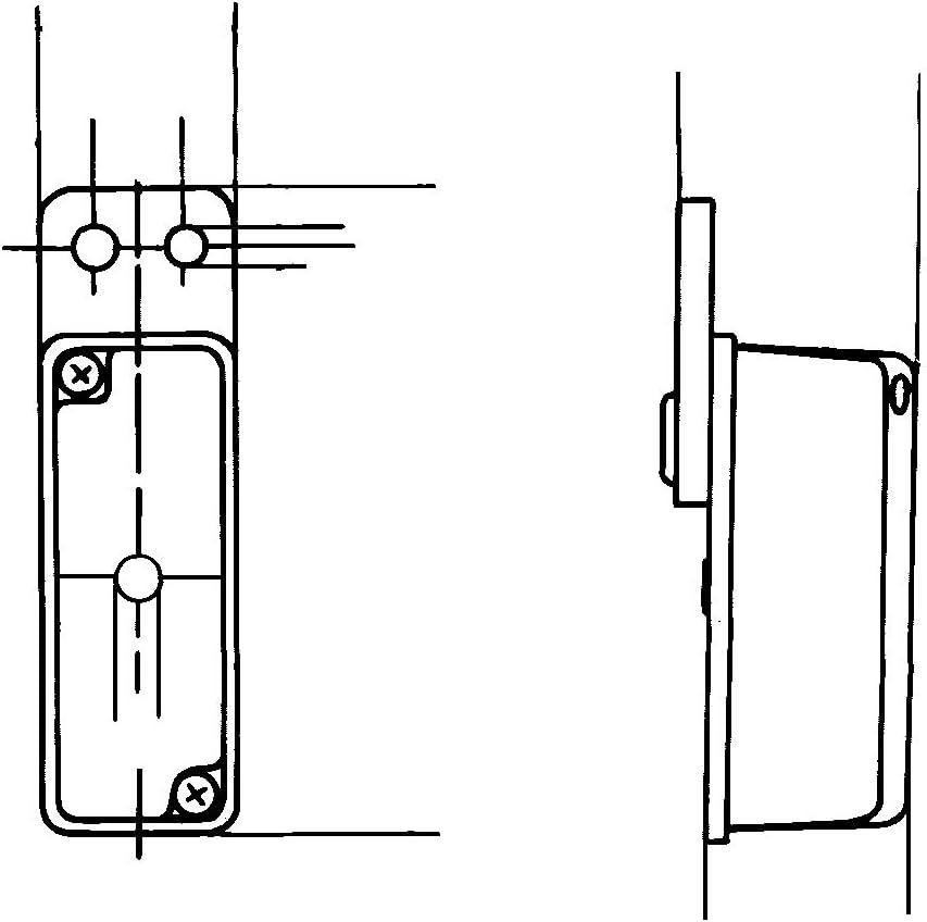 Hella 2xs 005 020 137 Umrissleuchte T4w 12v Lichtscheibenfarbe Glasklar Rot Anbau Einbauort Seitlicher Anbau Auto