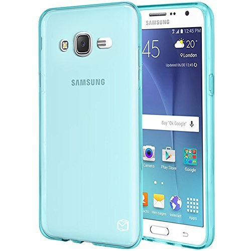 MP-MALL Case for Samsung Galaxy J7 2015, [Slim Fit] Premium Flexible Soft TPU Gel Rubber Skin Silicone Protective Case Cover (Mint) ()