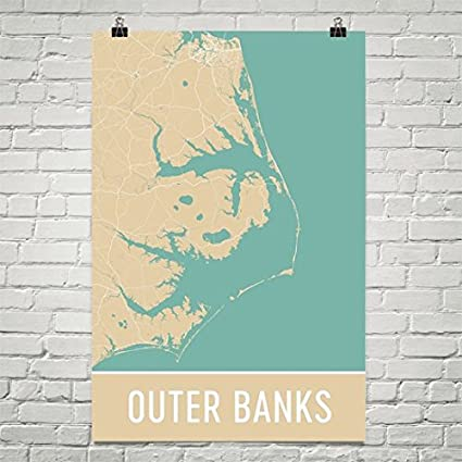 Amazon.com: Outer Banks Poster, Outer Banks Art Print, Outer Banks ...