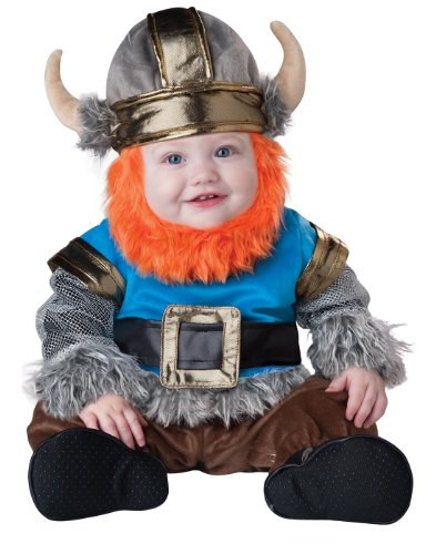 InCharacter Baby Boy's Viking Costume, Silver/Blue, Medium(12 - 18mos) by Fun World -