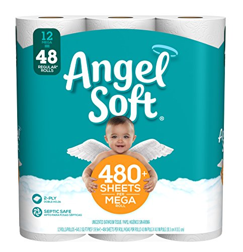 Angel Soft Toilet Paper, 12 Mega Rolls
