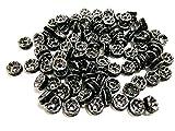 jennysun2010 Czech Crystal Rhinestone 18K Gunmetal Plated 10mm Jet Black Round Rondelle Straight Edge Spacer Beads 100pcs per Bag for Bracelet Necklace Earrings Jewelry Making Crafts Design