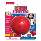 KONG Biscuit Ball Dog Toy, Large, Red