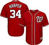 Bryce Harper Washington Nationals #34 MLB Youth Red Cool Base Jersey