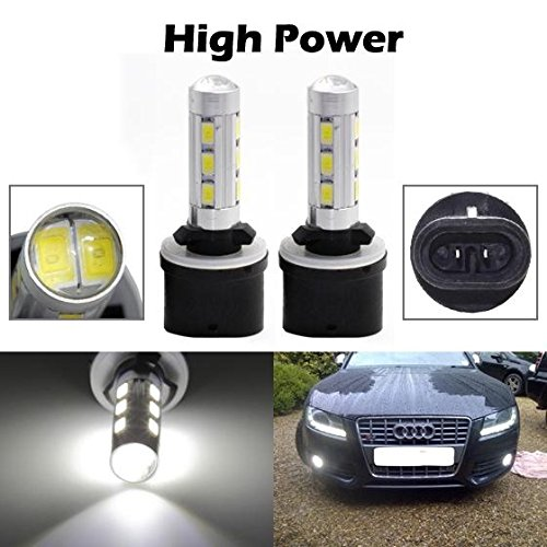 Partsam 2pcs Xenon White 880 892 893 899 High Power LED Replacement Bulbs for Fog Driving Light Daytime Running Bulbs DRL Parking Light 12-5730-SMD Led (Fog Lights For 2002 Lexus Es300 compare prices)