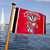 UW Badgers Boat and Nautical Flag