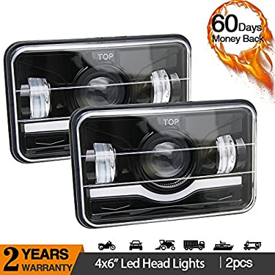 Uni-light LED Round Headlight 7 inch 2PCS Angel Eyes Cree DOT/E-MARK Approved 6000K Hi/lo Beam and DRL lamp Halo for Jeep Wrangler JK TJ LJ Harley Davidson, J003