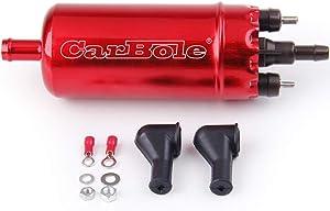 CarBole 0580464070 Replacement Electric Fuel Pump 125 psi Compatible with BWM E Series Fuel Transfer pump E30 E28 E24 E23 E8260 E10009 (Red)