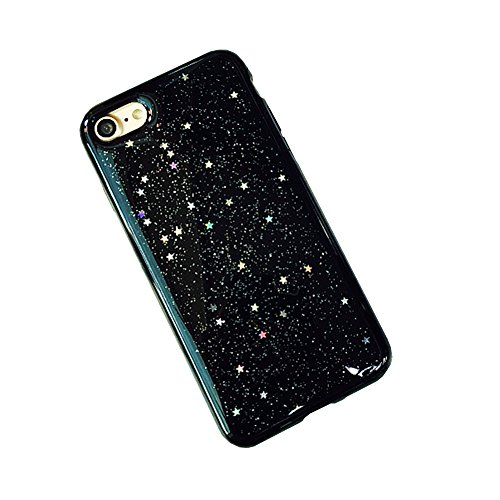 Jinberry Glitzer Sterne Schutzhülle für iPhone 7 (4.7 Zoll) / Ultra Dünne Weich TPU Case Handyhülle Silikon Slim Tasche Back Cover Hülle für Apple iPhone 7