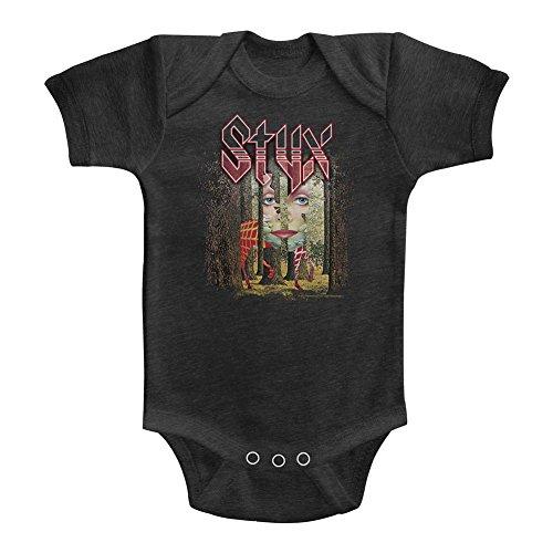 A&E Designs Styx Infant Bodysuit The Grand Illusion Album Cover Vintage Smoke Romper, 12M