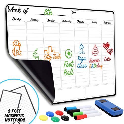 Weekly Dry Erase Board Magnetic Calendar | 13