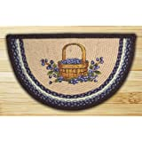 EarthRugs 32-312 Blueberry Basket Slice Rug, 18-Inch by 29-Inch, Blueberry/Crème
