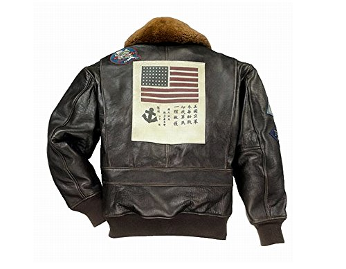 Aviateur 1 Top Ex G Cockpit Blouson In En Usa Cuir Navy xl Gun Made Marron Avirex 0dpvAqnv