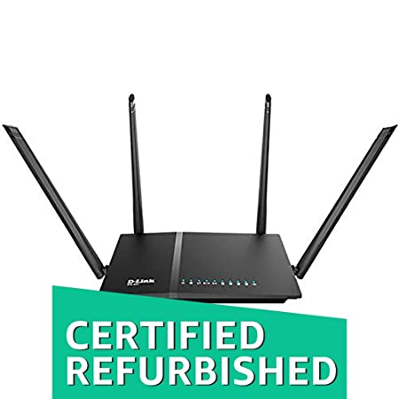 (Renewed) D-Link DIR-825 AC 1200 Wi-Fi Dual-Band Gigabit (LAN/WAN) Router Routers (Computers & Accessories) at amazon