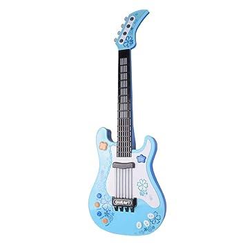 STOBOK Guitarra Eléctrica para Niños Juguete de Instrumento Musical Niños Juguetes Educativos Tempranos Batería no Incluida(Azul): Amazon.es: Juguetes y ...