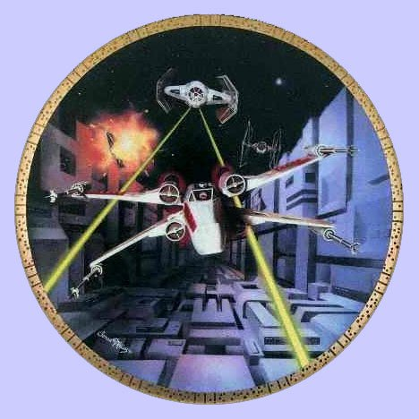 - Prannoi Star Wars - RED Five X-Wing Fighter Collector's Plate - The Hamilton Collection