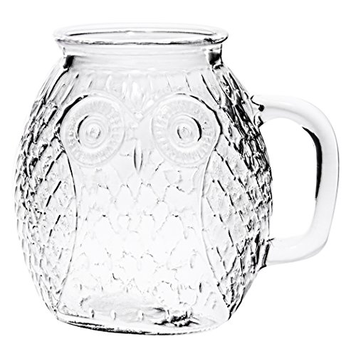 Home Essentials Outdoor Living Set Of 4 Owl Glass Mugs 16oz