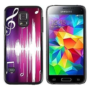Smartphone Rígido Protección única Imagen Carcasa Funda Tapa Skin Case Para Samsung Galaxy S5 Mini, SM-G800, NOT S5 REGULAR! Music Pink / STRONG