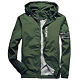Image of Homaok Men's Lightweight Breathable Jacket X-Large Green