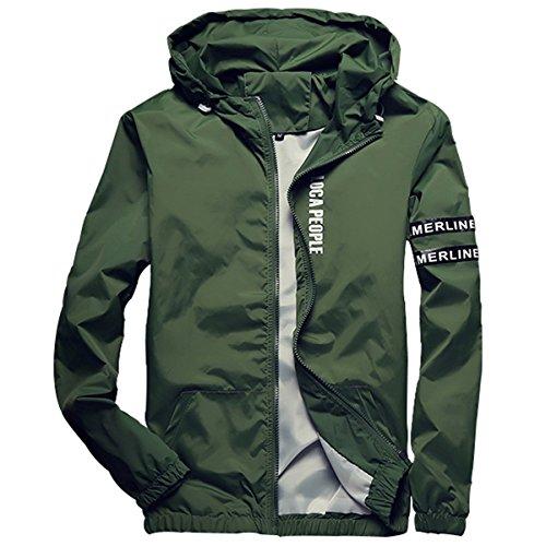 Homaok Men's Lightweight Breathable Rain Jacket hot sale - www ...