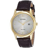 Citizen Men's Eco-Drive AW1232-12A Brown Leather Dress Watch